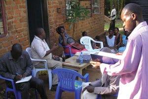 Participatory Rural Appraisal (PRA) session for collecting socio-economic data.
