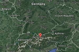 Location of the Kaunertal Valley in Austria.