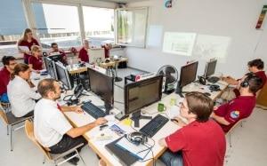 Photo of the Flight Control Room of AMADEE-15 mission at Kaunertal Glacier in Austria (source: Acta Astronautica).