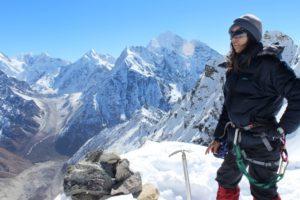 Gunjan Silwal, 29, during a research expedition to Yala glacier.