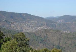 View of the Sierra Juarez above Oaxaca City