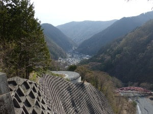 Looking down to Ashiyasu village, Minami-Alps Biosphere Reserve