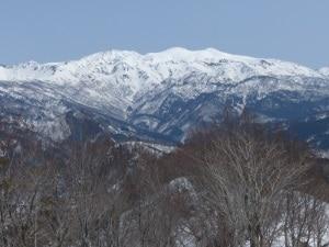 Mt. Hakusan (2,702 m), 45 km south-south-east of Kanazawa